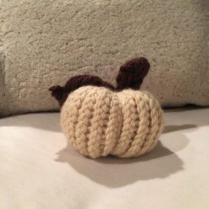 Loom Knit Pumpkin Finished