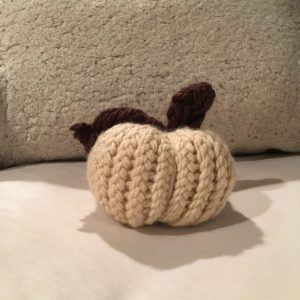 Loom Knit Pumpkin Finished
