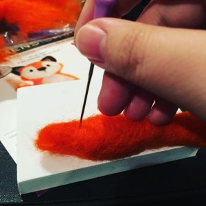 Needle Felting Fox Tail
