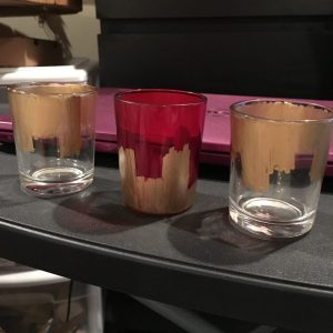 Gold Painted Votives 2