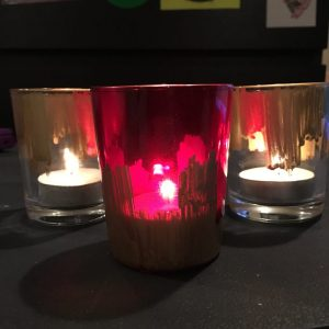 Gold Painted Votives 3