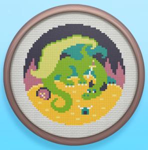 Treasure Dragon Cross Stitch Screenshot